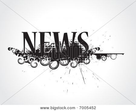abstract grunge news icon its not trade mark newspaper. vector illustration poster