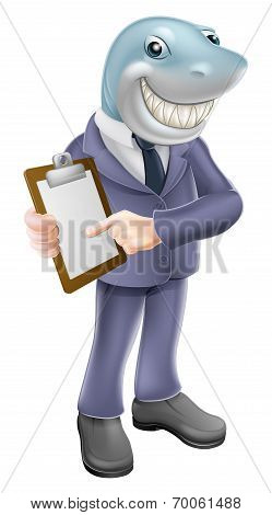 Businessman Shark Contract