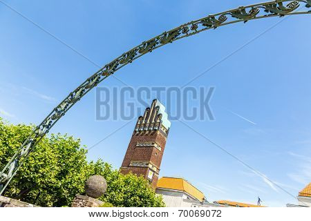 Mathildenhoehe In Darmstadt - Jugendstil - Art Nouveau - Germany - Five Finger Tower And Russian Cha