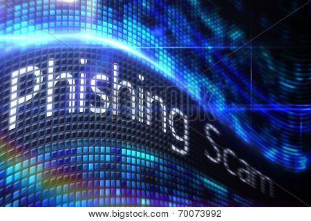 Digitally generated Phishing scam on digital screen