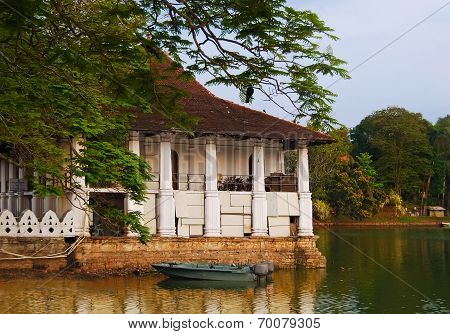 The Royal Summer House Is In The Kandy Lake, Sri Lanka