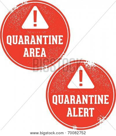 Disease Biohazard Quarantine Alert Stamps