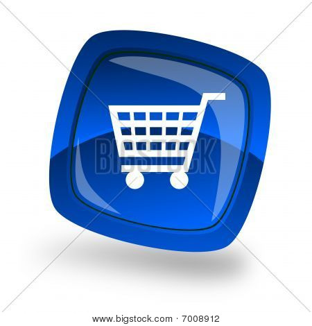 Blue Shopping icon