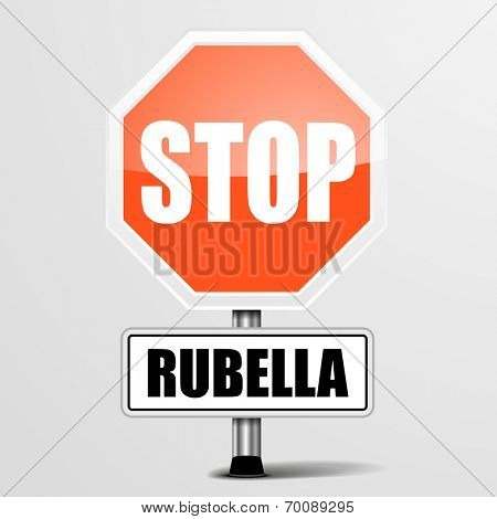 detailed illustration of a red stop rubella sign, eps10 vector