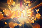 happy new year 2015 postcard poster