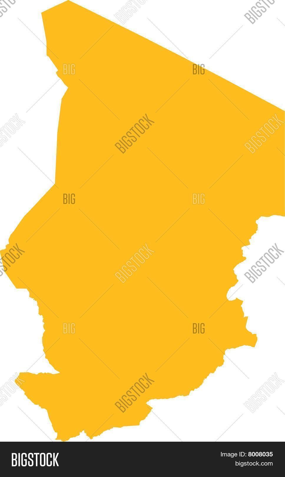 Chad Map Vector & Photo (Free Trial) | Bigstock