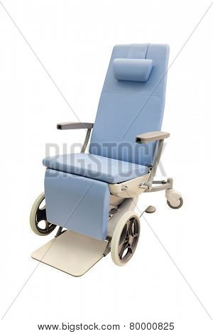 medical chairs under the white background