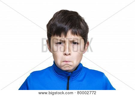 Young Modern Boy Pulls Funny Face