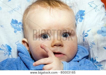 Adorable Cute Little Baby Close-up Portrait