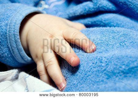 Soul-stirring Little Child Hand Close-up