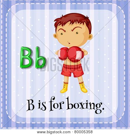 A letter B which stands for boxer