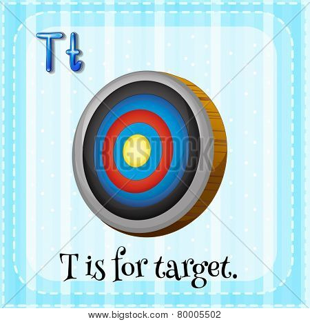 Illustration of an alphabet T is for target