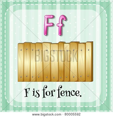 A letter F which stands for fence