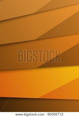 Golden Abstract Layer Folder Corporate Template