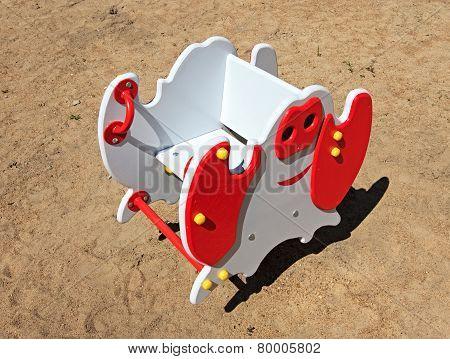 Swing on the children's playground.