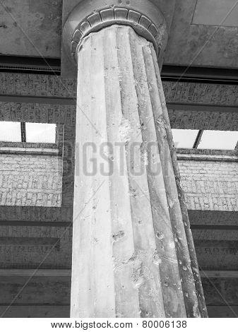 Bombed Column In Berlin
