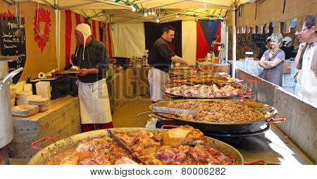 Stall With Various Meat Snaks