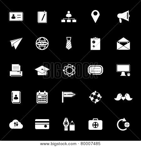 Contact Connection Icons On Gray Background