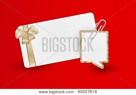 Greeting Card And Speak Bubble
