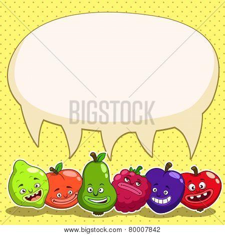 funny cartoon fruits