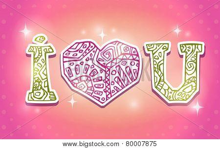 Greeting card, vector illustration