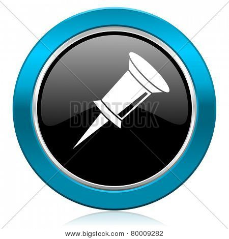 pin glossy icon