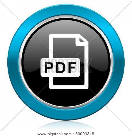 pdf file glossy icon