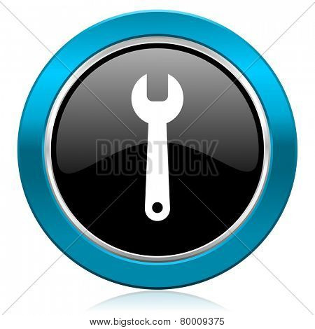 tools glossy icon service sign