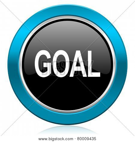 goal glossy icon