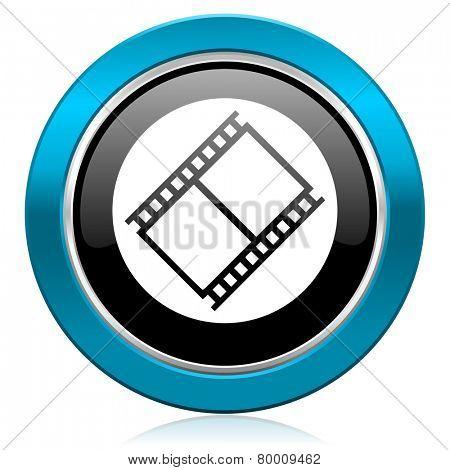 film glossy icon movie sign cinema symbol