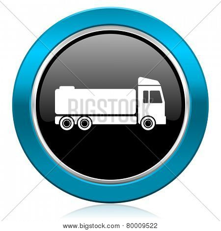 truck glossy icon cargo sign