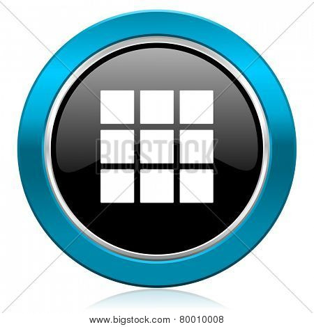 thumbnails grid glossy icon gallery sign