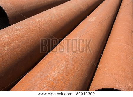 Rusty Metal Pipes Stack