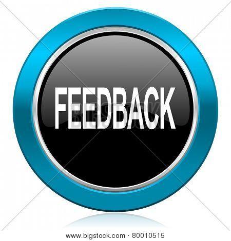 feedback glossy icon