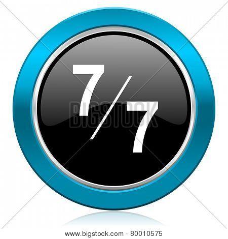 7 per 7 glossy icon