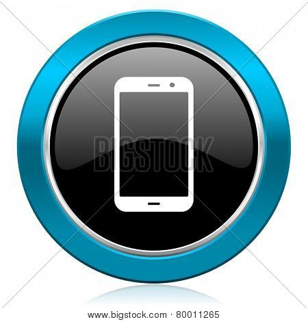 smartphone glossy icon phone sign