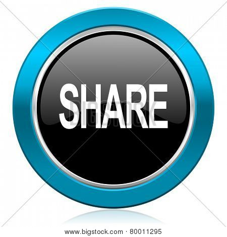 share glossy icon
