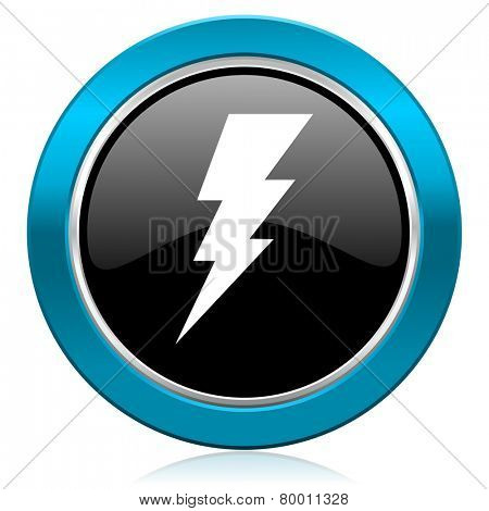 bolt glossy icon flash sign