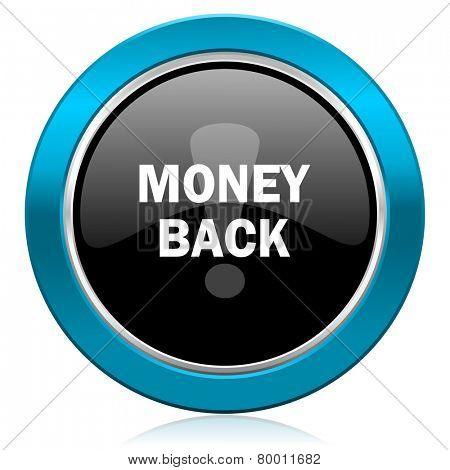 money back glossy icon