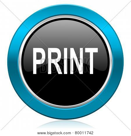 print glossy icon