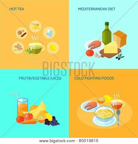 Healthy Food Flat