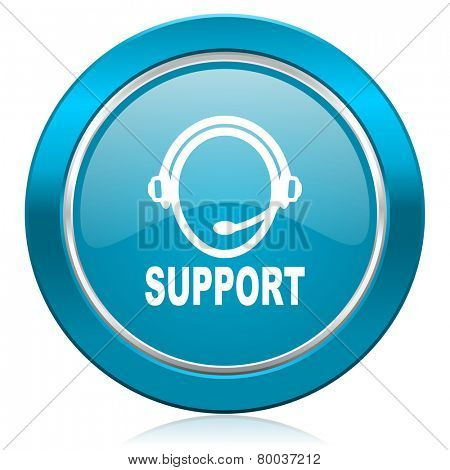 support blue icon