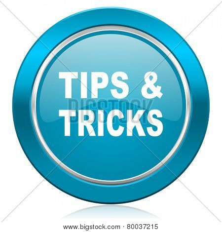 tips tricks blue icon