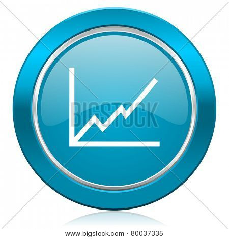 chart blue icon stock sign