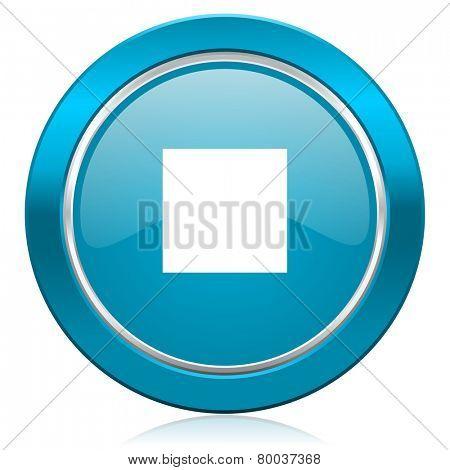 stop blue icon
