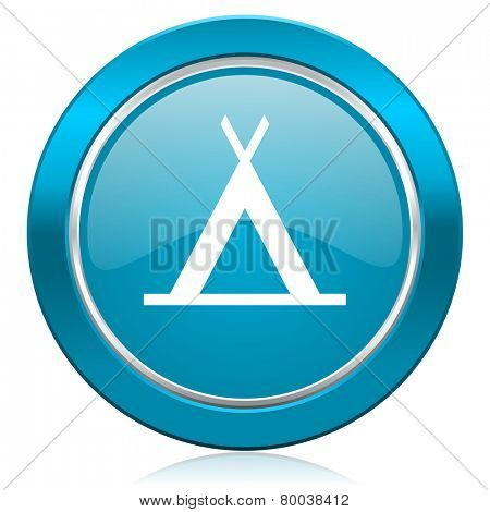 camp blue icon