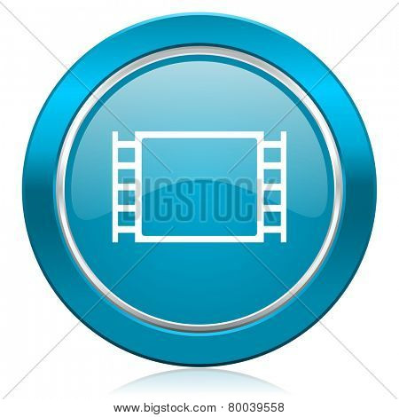 movie blue icon