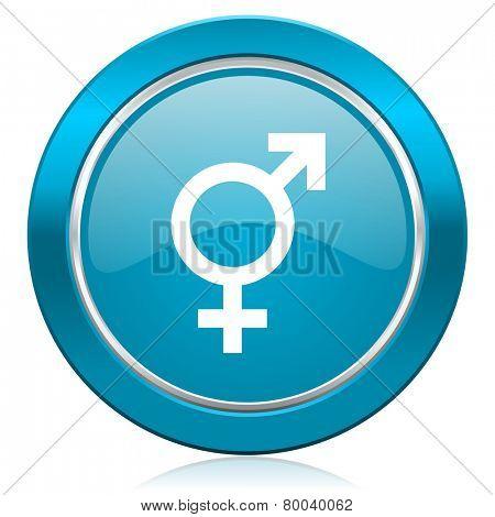 sex blue icon gender sign