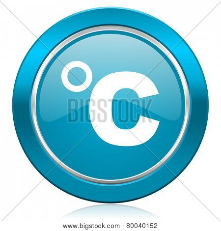 celsius blue icon temperature unit sign