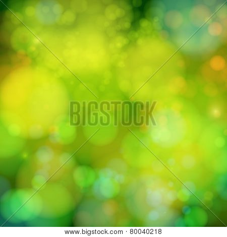 Soft blurry background with bokeh effect. Vector illustration.